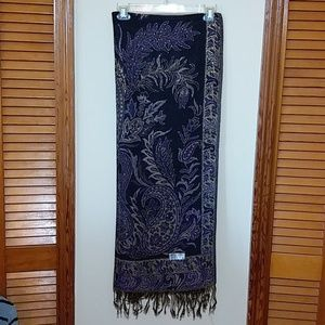 Brand New Handcrafted Gold thread Pashmina shawl